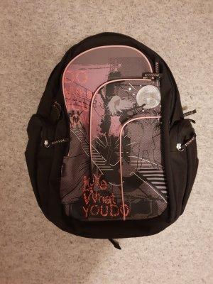 Mochila escolar negro-rosa