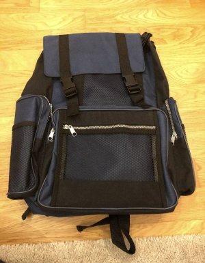 School Backpack black-dark blue