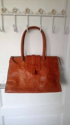 Marc O'Polo College Bag cognac-coloured-brown leather