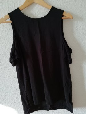 H&M Divided Haut cut-out noir viscose