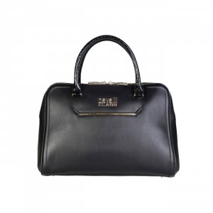 cavalli class Traditional Bag black imitation leather