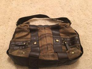 Schulter Tasche Esprit Kunstleder und Stoff in braun tönen