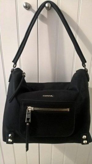 Schulter-Tasche von COMMA, schwarz/gold