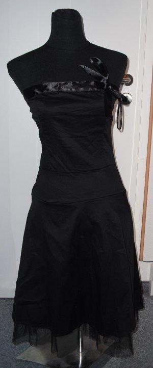Schulterfrei Kleid schwarz M