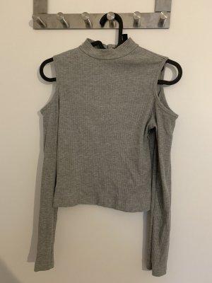 H&M Cropped shirt grijs