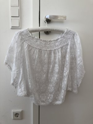 Abercrombie & Fitch Kanten blouse wit