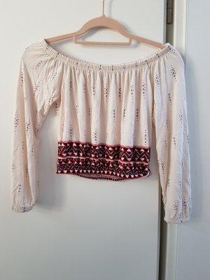 H&M Divided Blusa beige chiaro-rosso scuro