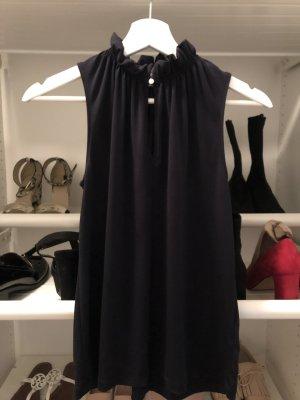 H&M Sleeveless Blouse dark blue