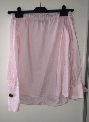 Zara Blusa tipo Carmen rosa-rosa claro