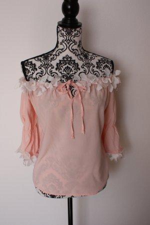 Lace Blouse dusky pink-nude