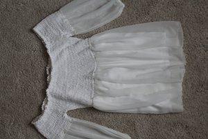 schulterfreie weiße Bluse Intimissimi