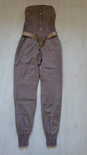 Jumpsuit grey brown