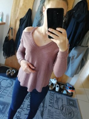 V-Neck Sweater grey lilac-mauve