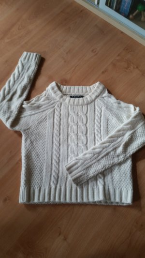 Amisu Knitted Sweater white