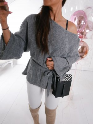 Oversized Sweater grey-silver-colored