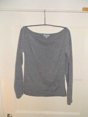 Mango Jersey de lana gris-gris oscuro lana merina