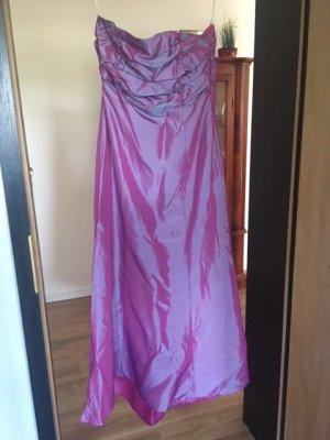 Schulterfreies Ballkleid pink, Gr. 36