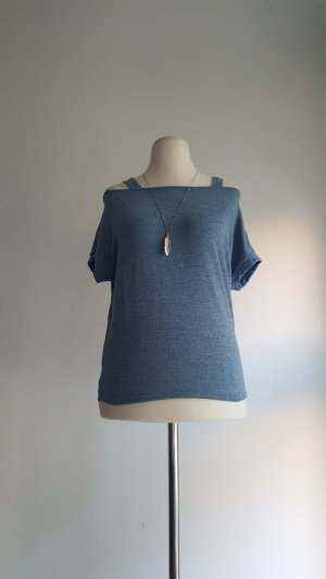 Camisa de un solo hombro gris pizarra