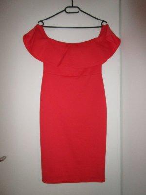 Schulterfreies Bodycon Dress Oragne New Look 10 / 38