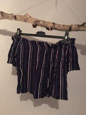 Pull & Bear Carmen Shirt multicolored viscose