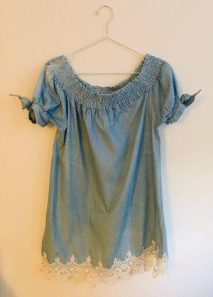Denim Dress pale blue-natural white