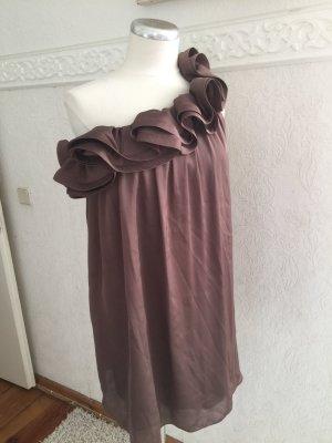 One Shoulder Dress light brown-beige