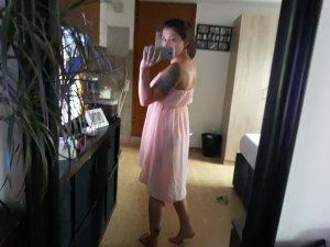 Off the shoulder jurk rosé-lichtroze