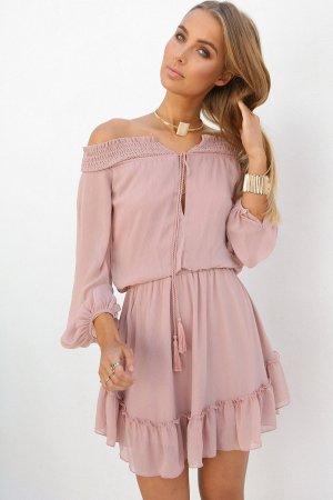Schulterfreies Kleid altrosa, Sabo Skirt Venetian Dress XXS Größe 32/34