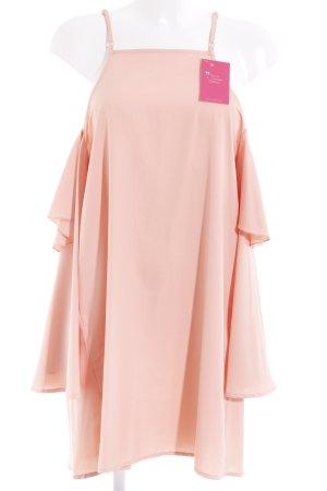 schulterfreies Kleid apricot Elegant