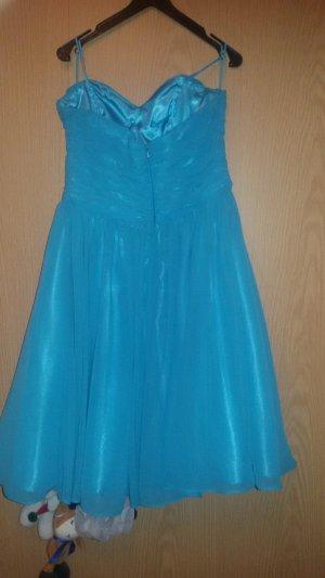Off the shoulder jurk lichtblauw