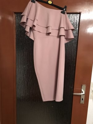Asos Off the shoulder jurk roze-rosé