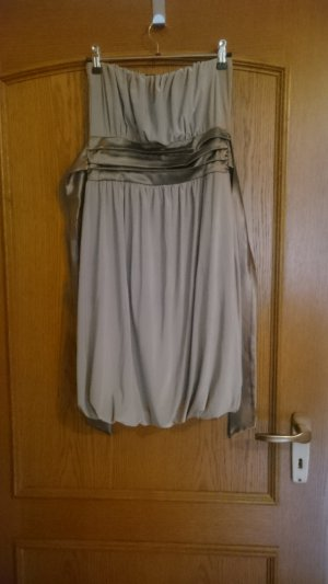 Off-The-Shoulder Dress light brown