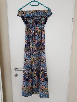 Amisu Off-The-Shoulder Dress multicolored