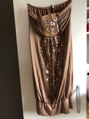 Off-The-Shoulder Dress beige