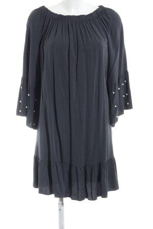 Off-The-Shoulder Dress dark grey casual look