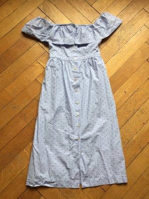H&M Midi-jurk azuur-staalblauw