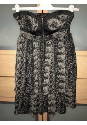 Schulterfreies Kleid - Schlangenoptik