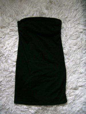 schulterfreies Kleid, Schlauchkleid, Sommerkleid, schwarz, H&M, Gr. S