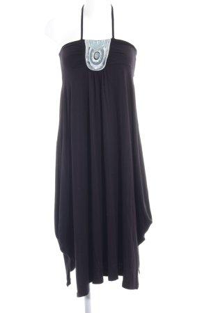 Off the shoulder jurk zwart glitter-achtig