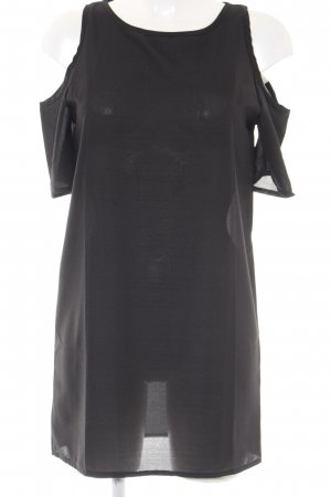 schulterfreies Kleid schwarz Transparenz-Optik