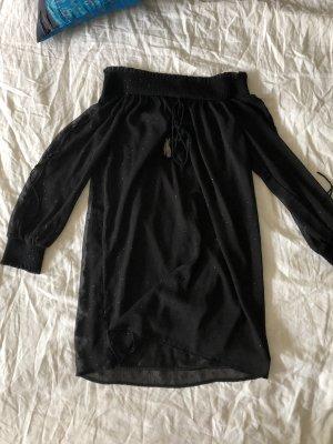 Schulterfreies Kleid / schwarz / Zara / Gr.34/36