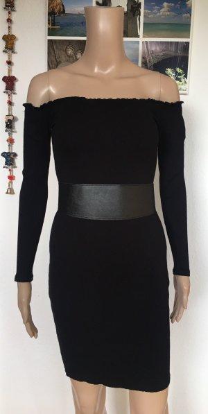 Bik Bok Off-The-Shoulder Dress black