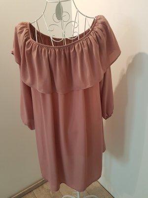 Glamorous Off-The-Shoulder Dress dusky pink