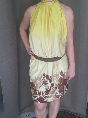 Schulterfreies Kleid von MNG Suit gelb/braun
