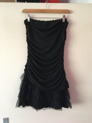 Schulterfreies  kurzes Kleid