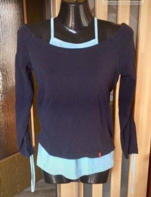 edc by Esprit Sweat Shirt dark blue-turquoise