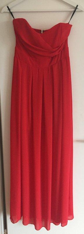 Schulterfreies langes Kleid