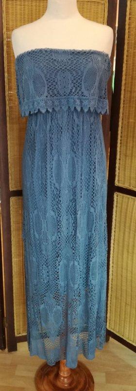 Schulterfreies, langes #Kleid #MadeinItaly Gr.S