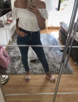 Tom Tailor Denim Off the shoulder top wit Katoen