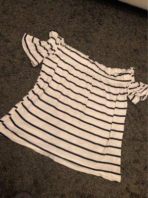 Primark T-shirt blanc-bleu foncé